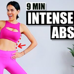 9 minute HOME ABS WORKOUT for WOMEN (✅  intense abs with no equipment)