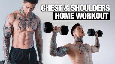Complete Chest & Shoulder Home Workout | Dumbbells Only