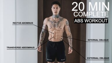 COMPLETE 20 MIN ABS WORKOUT (From Home)